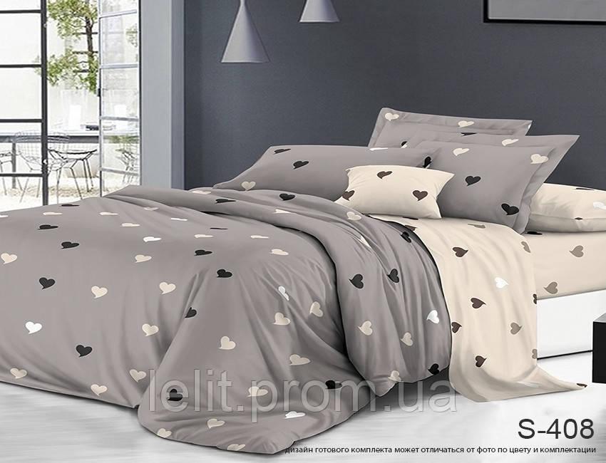 Евро-макси комплект постельного белья с компаньоном S408