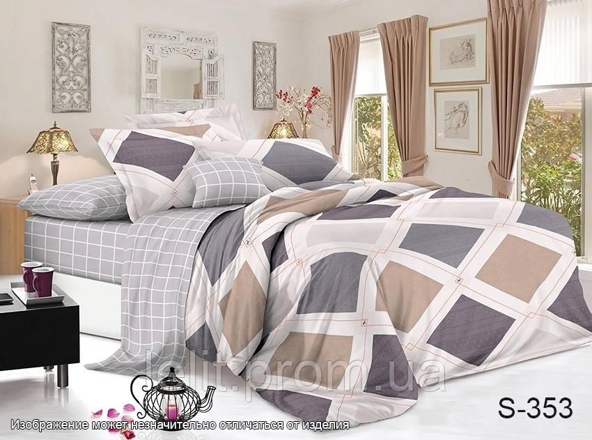 Евро-макси комплект постельного белья с компаньоном S353