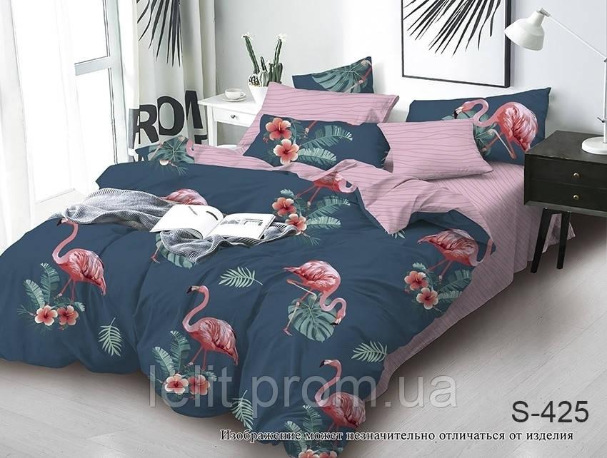 Евро-макси комплект постельного белья с компаньоном S425