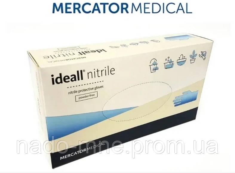 Нитриловые перчатки Mercator Medical Ideall nitrile, размер XL, 100 шт. синие