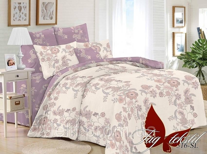 Полуторный комплект постельного белья с компаньоном SL316