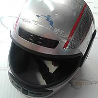 "Шлем мотоциклетный интеграл закрытый серый S(55-56), HF-101/501,""KUROSAWA"