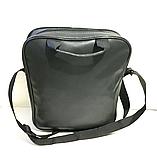 Спортивные сумки планшеты Converse искусств.кожа (ЧЕРНЫЙ)26*33см, фото 3