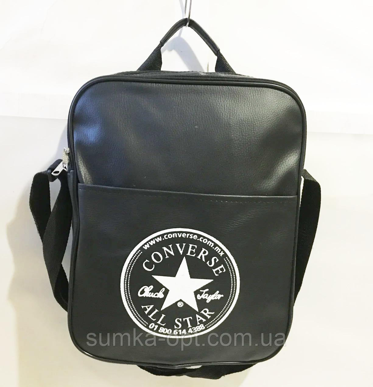 Спортивные сумки планшеты Converse искусств.кожа (ЧЕРНЫЙ)26*33см