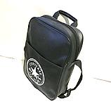 Спортивные сумки планшеты Converse искусств.кожа (ЧЕРНЫЙ)26*33см, фото 2