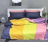 Евро комплект постельного белья Color mix CM-09, фото 2
