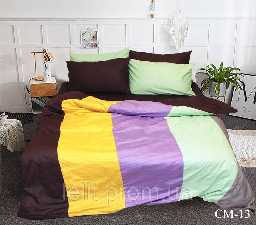 Евро комплект постельного белья Color mix CM-13