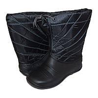 Дутики женские на меху  ДЖ-01 черные