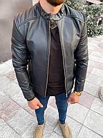 Мужская кожанка черная 78-127, фото 1