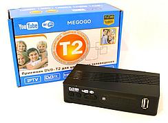 Тюнер DVB-T2 Megogo Small з підтримкою wi-fi адаптера (з екраном)