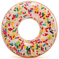 Надувной круг для плавания «Пончик с присыпкой» 114 см Intex (56263)
