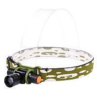 Налобный фонарь RJ-0151 (Cree Q5, 160 люмен, 3 режима, 1x14500), комплект в сумке, фото 1