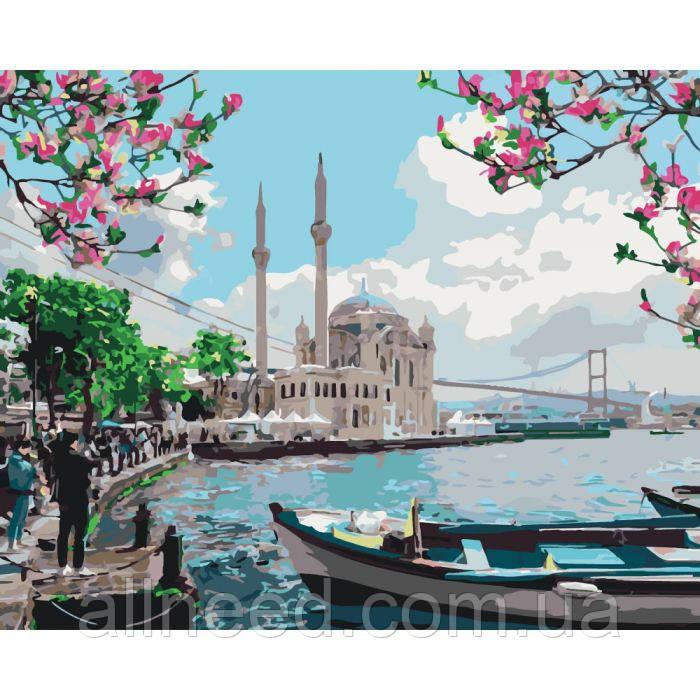 """Картина по номерам Городской пейзаж """"Турецкое побережье""""  40*50см * KHO2166"""