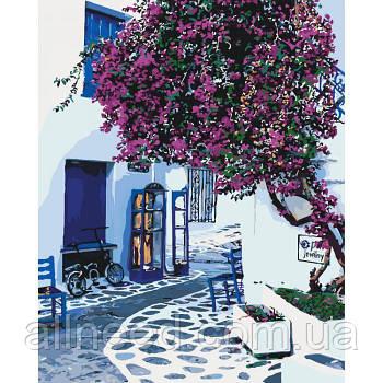 """Картина по номерам Городской пейзаж """"Солнечная Греция"""" 40*50см"""