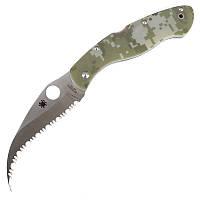 Нож складной керамбит SPYDERCO Civilian С12GS (длина: 23.0см, лезвие: 10.5см), камуфляжный