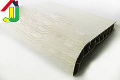 Подоконник Sauberg (Ламинация) Белый Дуб Матовый 100 мм влагостойкий, термостойкий, для окон