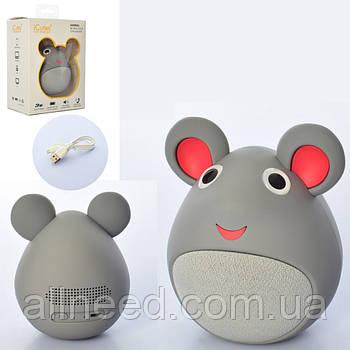Детская bluetooth колонка мышка Серая