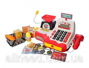 Каса дитяча з мікрофоном, сканером, чек, ваги, калькулятор