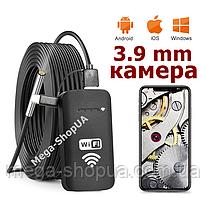 Wi-Fi / USB эндоскоп мини камера жесткий кабель 3.9 мм / 5 метров технический бороскоп для смартфона телефона