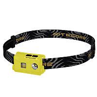 Фонарь налобный Nitecore NU25 (Сree XP-G2 S3, 360 люмен, 10 режимов, USB), желтый, фото 1