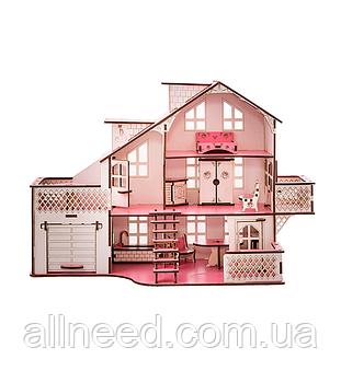 Кукольный дом с гаражом и подсветкой