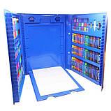 Дитячий художній набір для творчості з мольбертом 208 предметів у валізці, фото 2