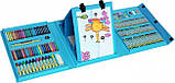 Дитячий художній набір для творчості з мольбертом 208 предметів у валізці, фото 4