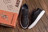 Мужские кожаные летние кроссовки, перфорация, фото 9