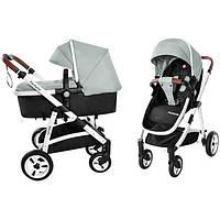 Детская универсальная прогулочная коляска 2 в 1 CARRELLO Fortuna CRL-9001/1 Forest Green с матрасом