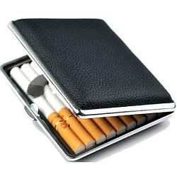 Портсигар для сигарет,эко-кожа на 20 сигарет