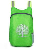 Компактний легкий рюкзак 15л зелений