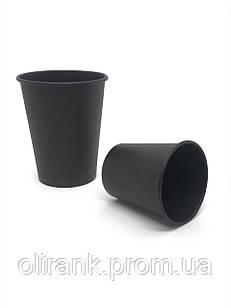 Стаканы бумажные 185 мл 50шт/уп  Total BLACK (48уп/ящ)(кр-69)