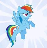 Мягкая игрушка Stip Пони Радуга Дэш My Little Pony голубая 30 см, фото 3