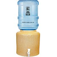 Керамічний диспенсер для води «Мармур Пісок»