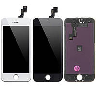 Дисплей для iPhone 5S, iPhone SE, модуль в зборі (екран і сенсор), з пластиками камери і датчика наближення, фото 1
