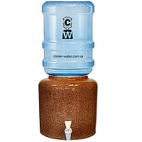 """Керамічний диспенсер для води """"Мармур коричневий"""", фото 1"""
