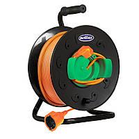 Удлинитель на катушке Бобина ПРОФИ 50м с кабелем и выносной розеткой (2*2,5) SVITEX