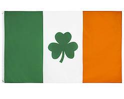 Флаг Ирландии с трилистником 90х150см