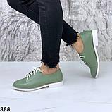 Женские туфли на шнурках эко кожа, фото 6