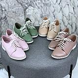 Женские туфли на шнурках эко кожа, фото 3