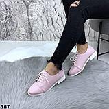 Женские туфли на шнурках эко кожа, фото 8