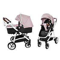 Детская универсальная прогулочная коляска 2 в 1 CARRELLO Fortuna CRL-9001/1 Coral Pink с матрасом