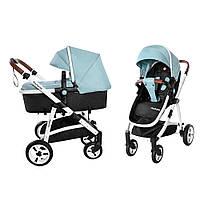 Детская универсальная прогулочная коляска 2 в 1 CARRELLO Fortuna CRL-9001/1 Hawaii Blue с матрасом