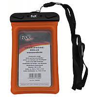 Водозахисна прозора гермоупаковка для смартфона 12,5х22,5 см помаранчева Fox Outdoor