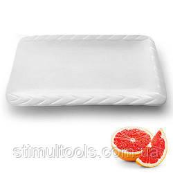 """Фарфоровое прямоугольное блюдо Stenson """"Коса"""" 16"""", упаковка 5 штук"""