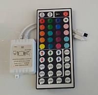 Контролер для світлодіодної стрічки RGB 6А 12В 72Вт IR для стрічки Led з пультом управління, фото 1
