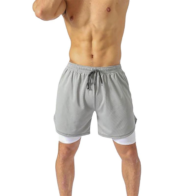 Мужские спортивные шорты Lesko B304 Gray размер L для тренировок спортзала