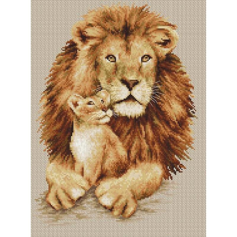Набор для вышивания нитками Luca-S Животные Птицы Лев