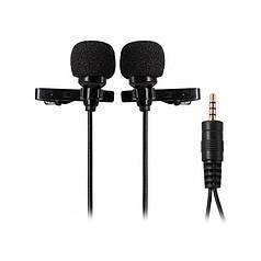 Петличный микрофон Ulanzi Arimic DualMic 2 микрофона двойной для смартфона всенаправленный