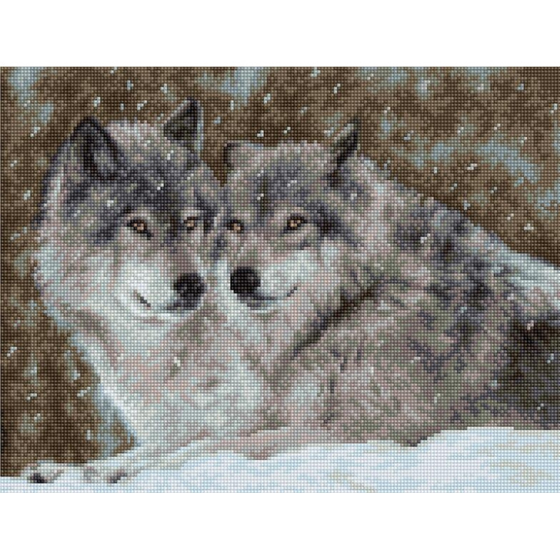 Набор для вышивания нитками Luca-S Животные Птицы Два волка